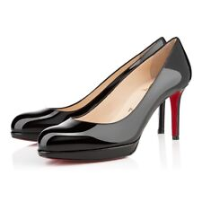 Christian Louboutin $845 New Simple Pump 85mm Black Patent Leather, Size 7