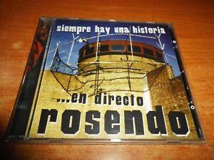 ROSENDO EN DIRECTO Siempre hay una historia CD ALBUM DEL AÑO 1999 19 TEMAS