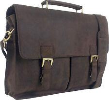 "UNICORN Real Leather 16.4"" Laptop Netbook Ultrabook Messenger Bag - Brown #4F"