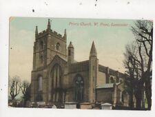 Priory Church Leominster Vintage Postcard 815a