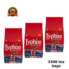 One Cup Certified Tea Bags Typhoo Set 3 Pack 3300 Bags, Bulk UK Stock, Free Del