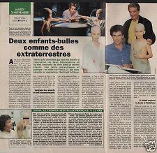 Coupure de presse Clipping 1992 Tom & Lola les enfants bulles (1 page 1/2)