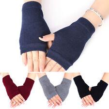 Ladies Wrist Hand Half Finger Fingerless Winter Warm Gloves Warmer Knit Mittens