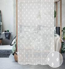 Tenda Capriccio ricamata trasparente bianca (col.1)