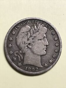 1892-S  Barber Half Dollar-KEY DATE!