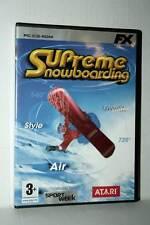 SUPREME SNOBOARDING GIOCO USATO OTTIMO PC CDROM VERSIONE ITALIANA GG1 41954