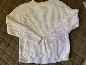 Acne Studios Ruth Pineapple Cotton Knit Sweater White XS