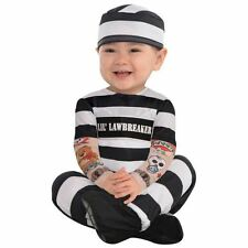 Lil' Law Breaker Baby Toddlers Prisoner Jail Fancy Dress Costume  0-6months