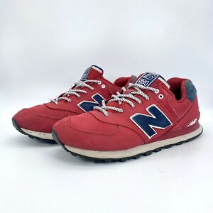 New Balance Mens 574 Pique Polo Pack Suede Running Sneaker's ML574POR Size 10
