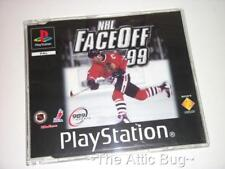 Sony Playstation1 / PS1 ~ NHL Face Off 99 ~ Full game in DISPLAY CASE/INLAY