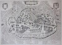 1663 VELLETRI Joan Blaeu acquaforte veduta originale Theatrum Civitatum Roma
