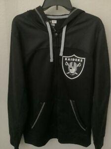 NFL Los Angeles Raiders Men Full Zip Hoodie Jacket TX3 Warm - Medium