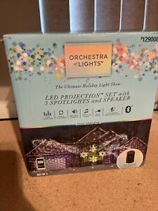 Orchestra of Lights LED Projection Set W/ 3 Spotlights Projector & Speaker see