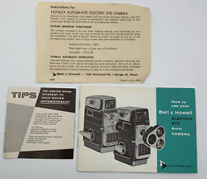 Bell & Howell 8mm Electric Eye Camera Instruction Manual Owners Guide Booklet 49