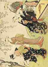 A4 photo Kiyonaga Torii 1752 1815 Mesdames CUEILLETTE FLEURS lILLUSTRATION 1929 prin