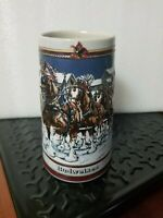 1989 Anheuser-Busch Budweiser Holiday Beer Stein, Collectors Series