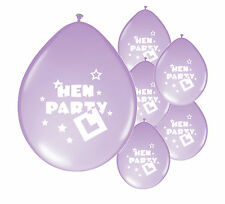 "10 x ""HEN PARTY"" LILAC BALLOONS (PA)"