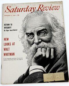 Saturday Review of Literature Magazine February 5, 1955 Walt Whitman Cover
