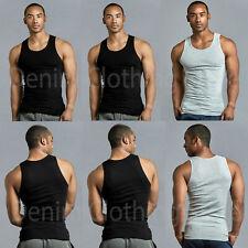 Lot 3, 6, 12 Men Tank Top 100% Cotton A-Shirt Wife Beater Ribbed Pack Undershirt