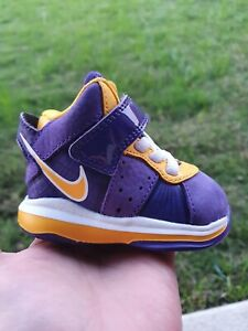 "Nike Lebron VIII ""Lakers"" BRAND NEW Toddler 2C"