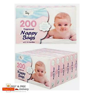 10-1200 Disposable Nappy Bags Fragranced Plastic Hygienic Sacks Diaper Tissue