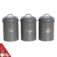 3pc Kitchen Storage Container Set - Tea Coffee Sugar Canisters