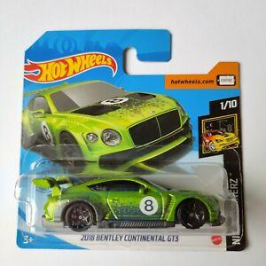 Hot Wheels 2020 - 2018 Bentley Continental GT3 - Nightburnerz NEW! ESC 1:64