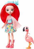 Enchantimals Mini-poupée Fanci Flament et Figurine Animale Swash, aux cheveux ro
