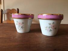 Lot 2 Petits pots de Fleurs Porcelaine de Limoges