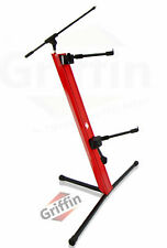 Two Tier Column Keyboard Stand Mic Boom 2 Arm Double Mount Pro Audio Studio Gear