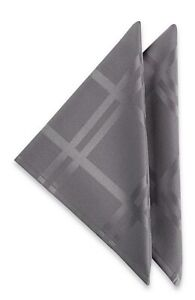 Origins Fabric Napkins 19x19 Set of 4 Charcoal Gray Bardwil Linens Easy Care
