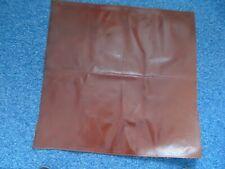 Leather Piece Upholstery Quality Dark Red 69 x 67 cms