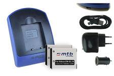 2x Baterìas + USB Cargador EN-EL19 para Nikon Coolpix S6400, S6500, S6600