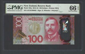 New Zealand 100 Dollars 2015-16  P 195a  Gem Uncirculated Grade 66