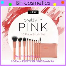 NEW BH Cosmetics 10-Piece PRETTY IN PINK Brush Set w/Cosmetic Bag FREE SHIPPING