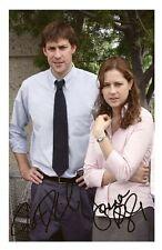 THE OFFICE - JENNA FISCHER & JOHN KRASINSKI SIGNED A4 PP POSTER PHOTO
