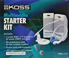 Koss Multimedia Starter Kit HDM/121A In. Microphone Headphone 2 x Speakers