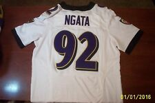 NFL PLAYERS,RAVINS,NIKE,NGATA,#92,JERSEY,MENS,SZ,40,FOOTBALL,BALTIMORE,SEWN,ON