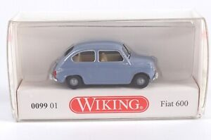 h0, 1:87 Fiat 600 rouge-article NEUF Wiking 009904//0099 04