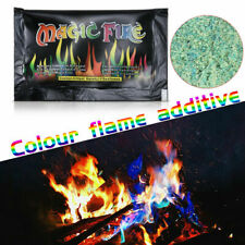 Mystical Magic Tricks Fire Colored Flame Bonfire Sachet Fireplace Toy For Party