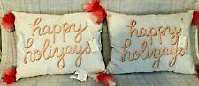 "Set of 2 ""HAPPY HOLIYAYS"" Decorative Pillows by Lauren Conrad"