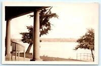 VTG RPPC Real Photo Copake Lake? NY New York Porch Chair A2