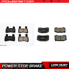 Power Stop Front & Rear Clean Ceramic Brake Pads For 2016 Chevrolet Camaro