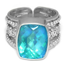 Offerings Sajen 925 Sterling Silver Rainbow Teal Quartz Ring Size 9