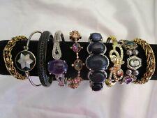 Vintage Rhinestone Goldstone Japanned Slider Bracelet Lot Jewelry Lot
