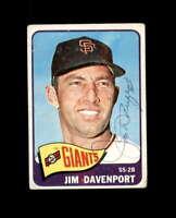 Jim Davenport Hand Signed 1965 Topps San Francisco Giants Autograph