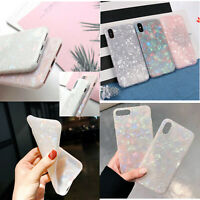 For iPhone SAMSUNG Mobile Phone Marble Shockproof Silicone Protective Case Cover