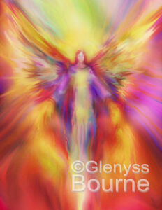 "Set of 9 ARCHANGEL Paintings by Glenyss Bourne 8""x10"""
