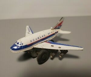 Vintage Marx DC8 Plane Tin Japan Friction