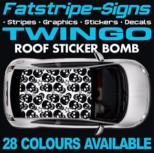 RENAULT TWINGO Graphique Rayures Stickers Autocollants Sport RS Turbo 1.4 MK2 MK3 133